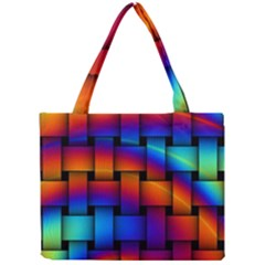 Rainbow Weaving Pattern Mini Tote Bag by Amaryn4rt