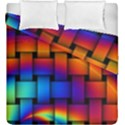 Rainbow Weaving Pattern Duvet Cover Double Side (King Size) View1
