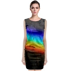 Rainbow Color Prism Colors Classic Sleeveless Midi Dress by Amaryn4rt