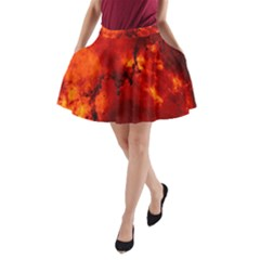 Star Clusters Rosette Nebula Star A Line Pocket Skirt by Amaryn4rt