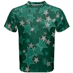 Star Seamless Tile Background Abstract Men s Cotton Tee