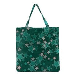 Star Seamless Tile Background Abstract Grocery Tote Bag