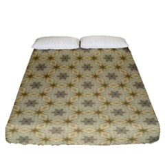 Star Basket Pattern Basket Pattern Fitted Sheet (queen Size)