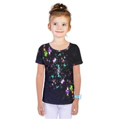 Star Structure Many Repetition Kids  One Piece Tee