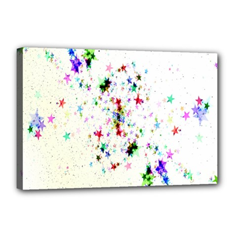 Star Structure Many Repetition Canvas 18  X 12  by Amaryn4rt