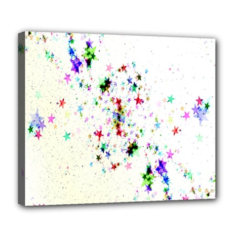 Star Structure Many Repetition Deluxe Canvas 24  X 20   by Amaryn4rt