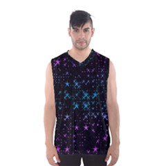 Stars Pattern Seamless Design Men s Basketball Tank Top by Amaryn4rt