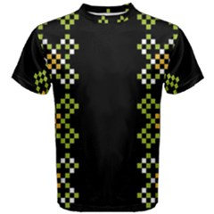 Vintage Pattern Background  Vector Seamless Men s Cotton Tee