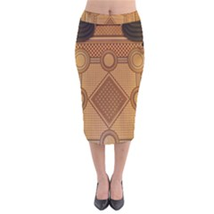 The Elaborate Floor Pattern Of The Sydney Queen Victoria Building Velvet Midi Pencil Skirt