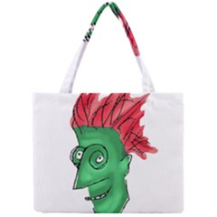 Crazy Man Drawing  Mini Tote Bag