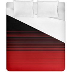 Abstract Of Red Horizontal Lines Duvet Cover (california King Size) by Amaryn4rt
