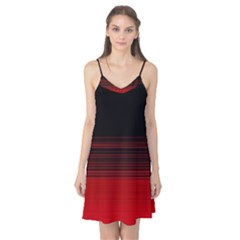 Abstract Of Red Horizontal Lines Camis Nightgown