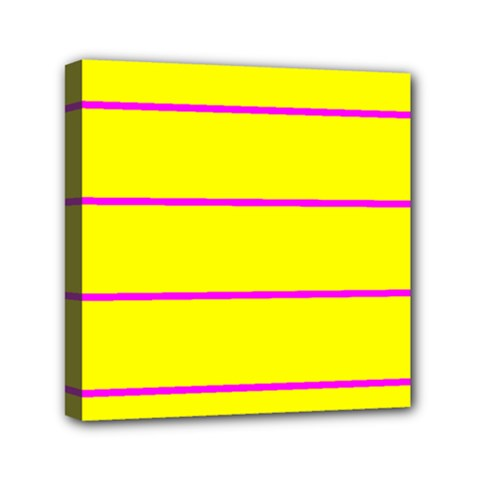 Background Image Horizontal Lines And Stripes Seamless Tileable Magenta Yellow Mini Canvas 6  X 6  by Amaryn4rt