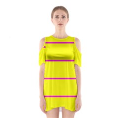Background Image Horizontal Lines And Stripes Seamless Tileable Magenta Yellow Shoulder Cutout One Piece