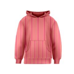 Background Image Vertical Lines And Stripes Seamless Tileable Deep Pink Salmon Kids  Pullover Hoodie by Amaryn4rt