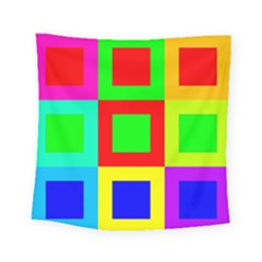 Colors Purple And Yellow Square Tapestry (small)