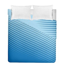Blue Dot Pattern Duvet Cover Double Side (full/ Double Size) by Amaryn4rt
