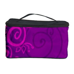 Floraly Swirlish Purple Color Cosmetic Storage Case