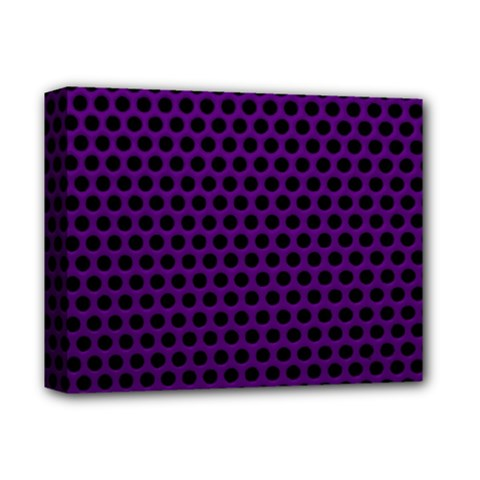 Dark Purple Metal Mesh With Round Holes Texture Deluxe Canvas 14  X 11  by Amaryn4rt