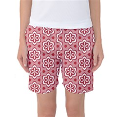 Floral Abstract Pattern Women s Basketball Shorts