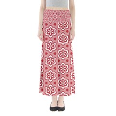 Floral Abstract Pattern Maxi Skirts