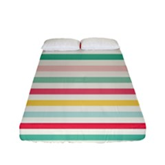 Papel De Envolver Hooray Circus Stripe Red Pink Dot Fitted Sheet (full/ Double Size) by Amaryn4rt