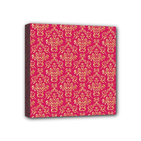 Damask Background Gold Mini Canvas 4  X 4  by Amaryn4rt