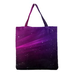 Purple Wallpaper Grocery Tote Bag by Amaryn4rt