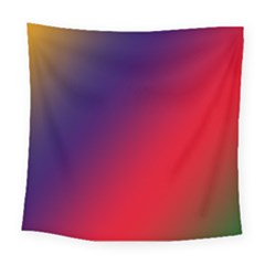 Rainbow Two Background Square Tapestry (large)