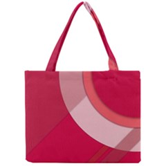 Red Material Design Mini Tote Bag by Amaryn4rt