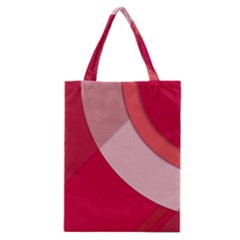 Red Material Design Classic Tote Bag by Amaryn4rt