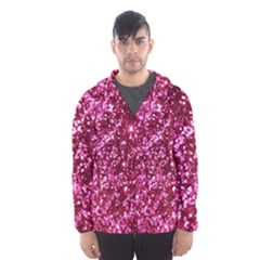 Pink Glitter Hooded Wind Breaker (men)