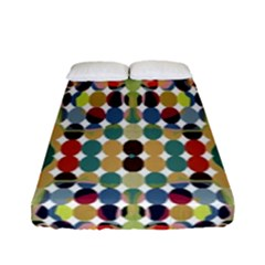 Retro Pattern Abstract Fitted Sheet (full/ Double Size) by Amaryn4rt