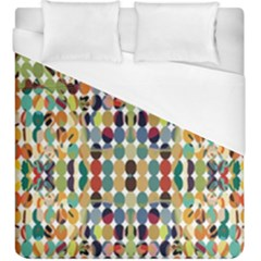 Retro Pattern Abstract Duvet Cover (king Size) by Amaryn4rt