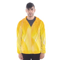 Yellow Pattern Painting Hooded Wind Breaker (men) by Amaryn4rt