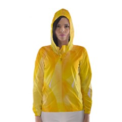 Yellow Pattern Painting Hooded Wind Breaker (women) by Amaryn4rt