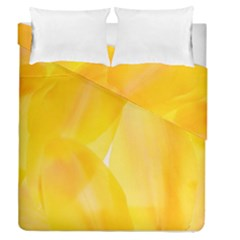 Yellow Pattern Painting Duvet Cover Double Side (queen Size) by Amaryn4rt