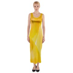 Yellow Pattern Painting Fitted Maxi Dress by Amaryn4rt