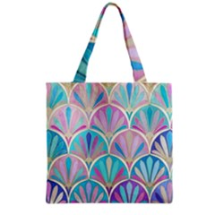 Beautiful Blue Sea Shell Grocery Tote Bag by Brittlevirginclothing