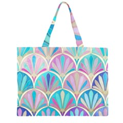 Beautiful Blue Sea Shell Zipper Large Tote Bag by Brittlevirginclothing