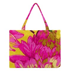 Beautiful Pink Flowers Medium Tote Bag by Brittlevirginclothing