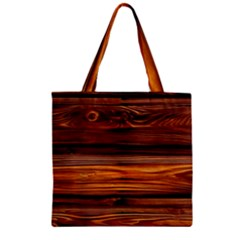 Old Wood Zipper Grocery Tote Bag by Brittlevirginclothing