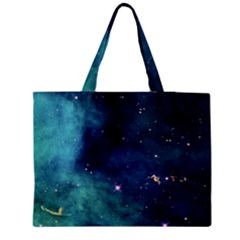 Space Medium Zipper Tote Bag by Brittlevirginclothing