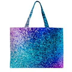Rainbow Sparkles Medium Zipper Tote Bag by Brittlevirginclothing