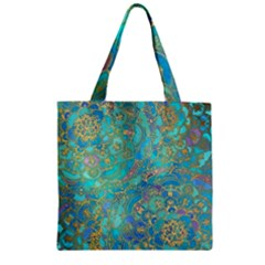 Celtic  Zipper Grocery Tote Bag by Brittlevirginclothing