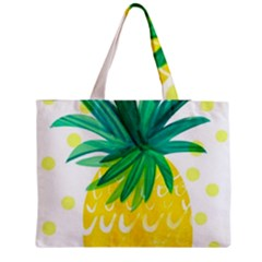 Cute Pineapple Medium Zipper Tote Bag by Brittlevirginclothing