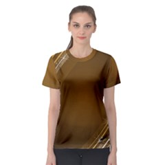 Abstract Background Women s Sport Mesh Tee by Amaryn4rt