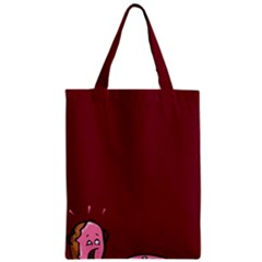 Funny Donuts Zipper Classic Tote Bag by Brittlevirginclothing