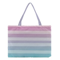 Colorful Horizontal Lines Medium Tote Bag by Brittlevirginclothing