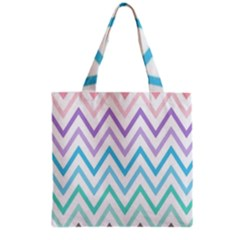Colorful Wavy Lines Grocery Tote Bag by Brittlevirginclothing